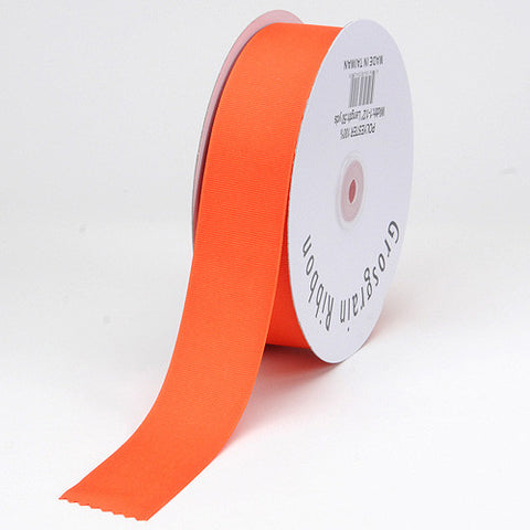Grosgrain Ribbon Solid Color Orange ( W: 7/8 inch | L: 50 Yards ) -