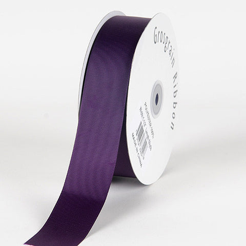 Grosgrain Ribbon Solid Color Plum ( W: 7/8 inch | L: 50 Yards ) -