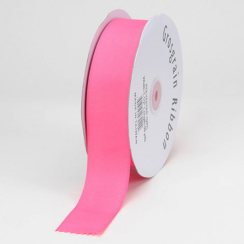 Grosgrain Ribbon Solid Color Hot Pink ( W: 7/8 inch | L: 50 Yards ) -