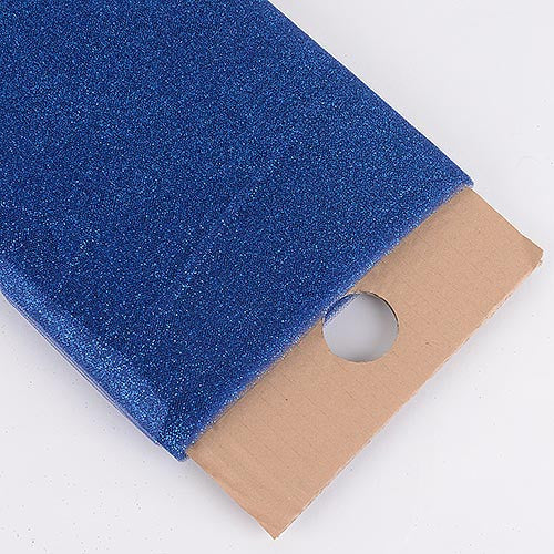 Navy Blue Premium Glitter Tulle Fabric ( W: 6 inch | L: 25 Yards ) -
