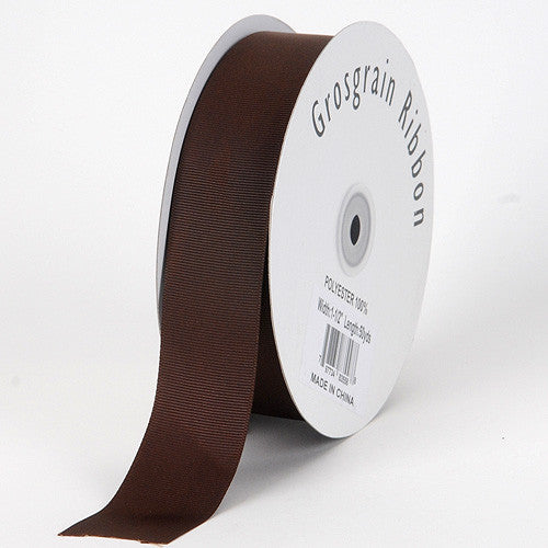 Grosgrain Ribbon Solid Color Chocolate Brown ( W: 1-1/2 inch | L: 50 Yards ) -