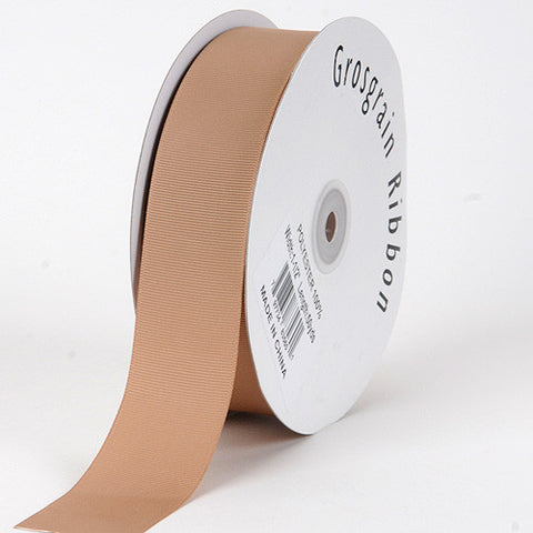 Grosgrain Ribbon Solid Color Tan ( W: 5/8 inch | L: 50 Yards ) -