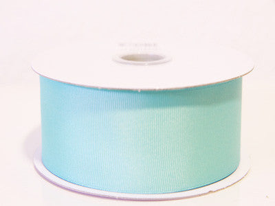 Grosgrain Ribbon Solid Color 25 Yards Aqua Blue ( W: 5/8 inch | L: 25 Yards ) -