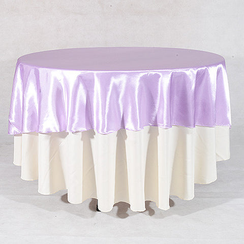 "Lavender  70"" Satin Round Tablecloths  ( 70 Inch )- Ribbons Cheap"