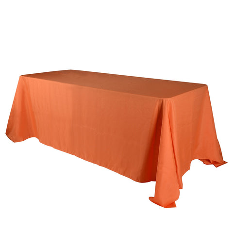 Orange 60 x 102 Rectangle Tablecloths  ( 60 inch x 102 inch )- Ribbons Cheap
