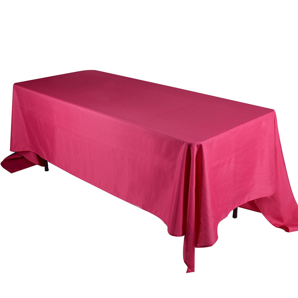 Fuchsia 60 x 102 Rectangle Tablecloths  ( 60 inch x 102 inch )- Ribbons Cheap