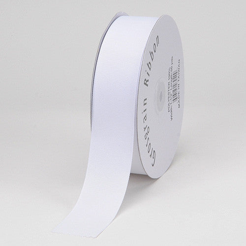 Grosgrain Ribbon Solid Color White ( W: 1-1/2 inch | L: 50 Yards ) -
