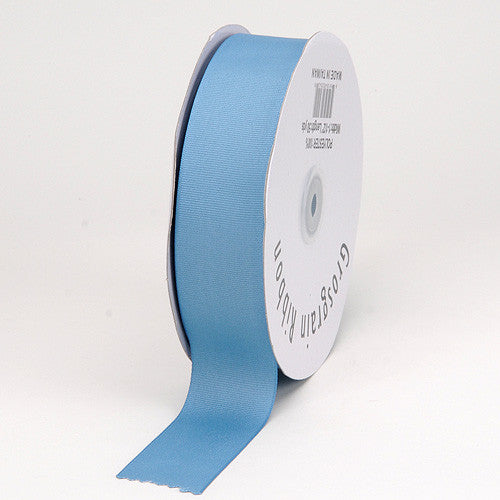 Grosgrain Ribbon Solid Color Antique Blue ( W: 5/8 inch | L: 50 Yards ) -