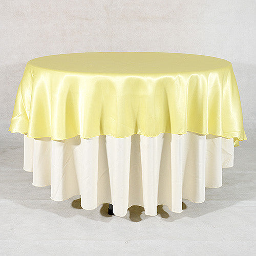 "Baby Maize  70"" Satin Round Tablecloths  ( 70 Inch )- Ribbons Cheap"