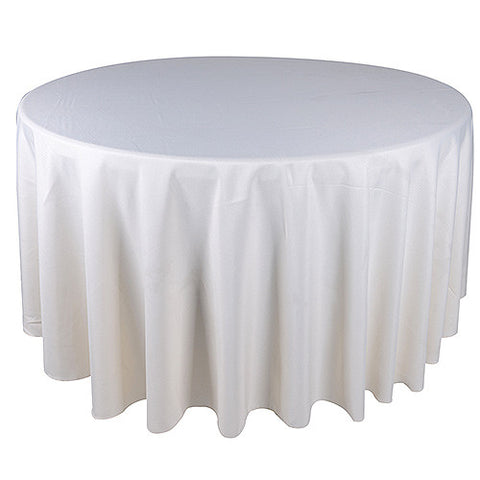 Ivory  70 Inch Round Tablecloths  ( W: 70 Inch | Round )- Ribbons Cheap