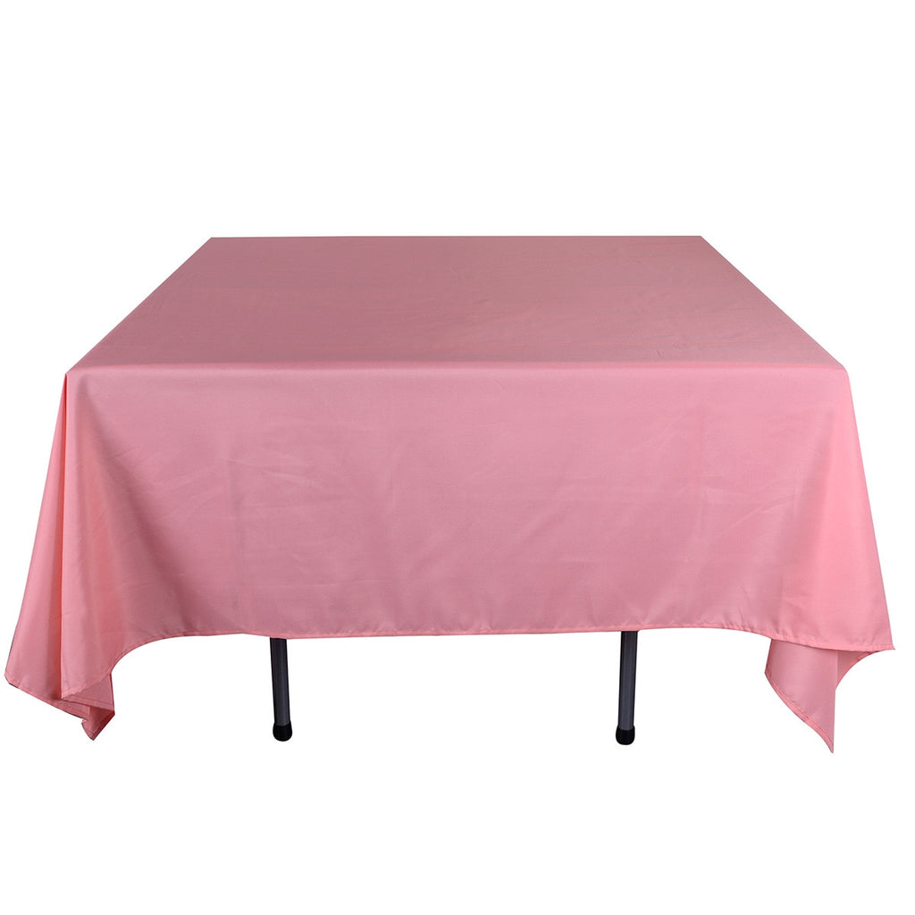 Coral  85 x 85 Square Tablecloths  ( 85 Inch x 85 Inch )- Ribbons Cheap