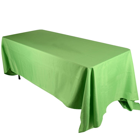 Apple Green  90 x 156 Rectangle Tablecloths  ( 90 inch x 156 inch )- Ribbons Cheap