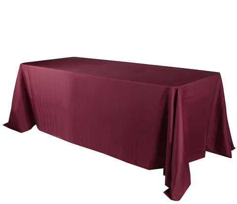 Burgundy 90 x 156 Rectangle Tablecloths  ( 90 inch x 156 inch )- Ribbons Cheap