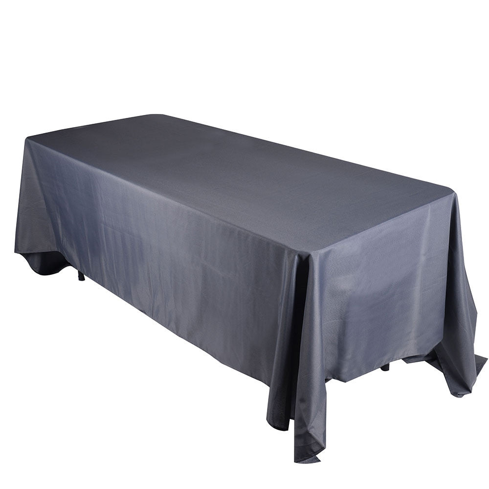 Charcoal  90 x 156 Rectangle Tablecloths  ( 90 inch x 156 inch )- Ribbons Cheap