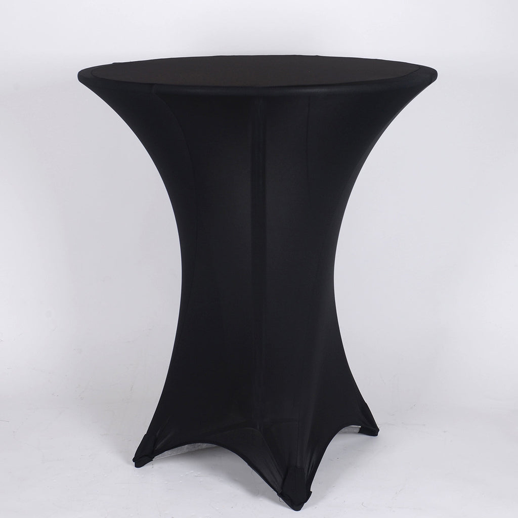 Black Spandex Cocktail Tablecloths- Ribbons Cheap