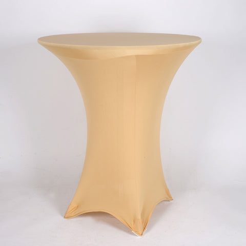 Champagne Spandex Cocktail Tablecloths- Ribbons Cheap