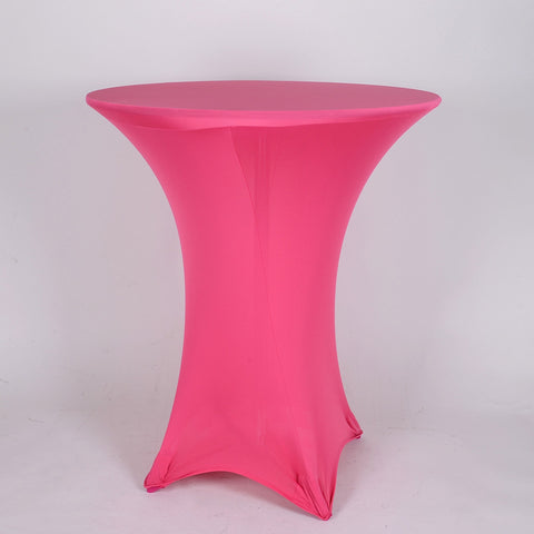 Fuchsia Spandex Cocktail Tablecloths- Ribbons Cheap