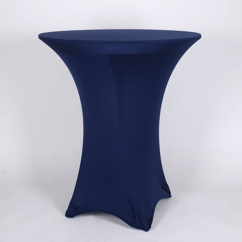 Navy Blue Spandex Cocktail Tablecloths- Ribbons Cheap