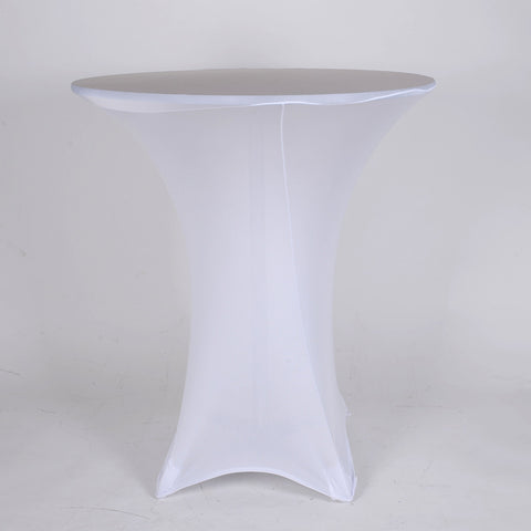 White Spandex Cocktail Tablecloths- Ribbons Cheap