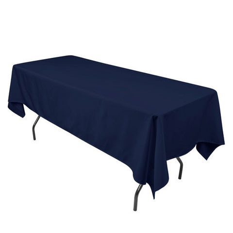 Navy  60 x 102 Rectangle Tablecloths  ( 60 inch x 102 inch )- Ribbons Cheap