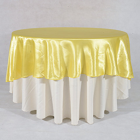 "Daffodil  70"" Satin Round Tablecloths  ( 70 Inch )- Ribbons Cheap"