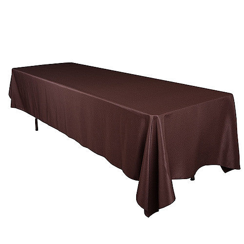 Chocolate  60 x 102 Rectangle Tablecloths  ( 60 inch x 102 inch )- Ribbons Cheap