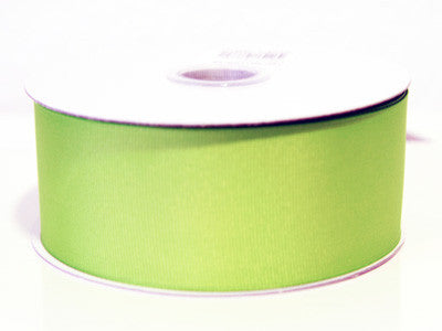 Grosgrain Ribbon Solid Color 25 Yards Kiwi ( W: 5/8 inch | L: 25 Yards ) -