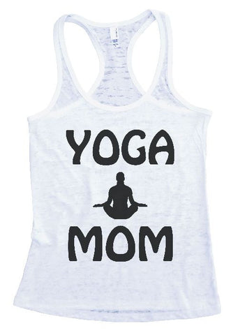 "Womens Tank Top ""YOGA MOM"" Womens Funny Burnout Style Workout Tank Top, Yoga Tank Top, Funny (Black) YOGA MOM Top"