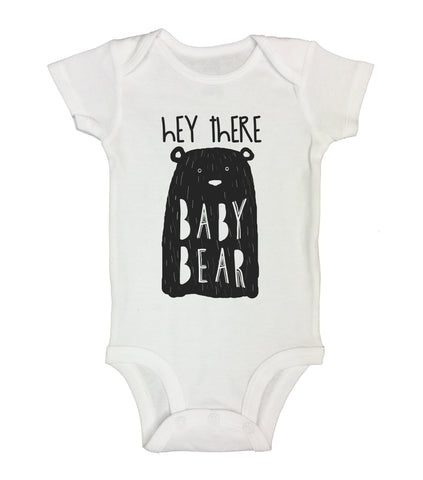 "Cute Animal Inspired Baby Bodysuit ""Hey There Baby Bear"" RB Clothing Co"