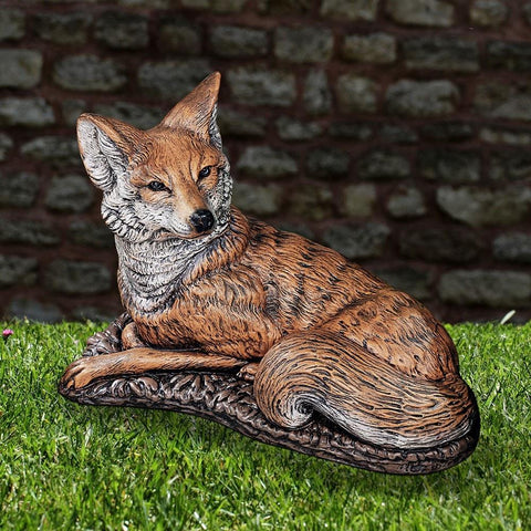 Henri Studio Fox Statue Life on Plum