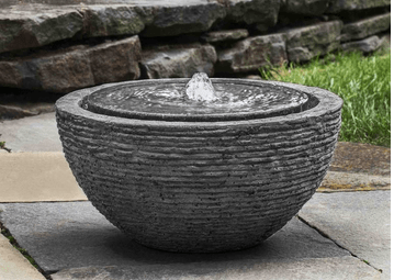 Campania International Arroyo Fountain in Stone Ledge Life on Plum