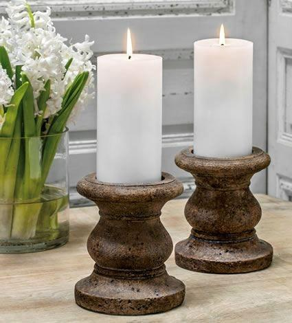 Image of Campania International Classic Tall Pillar Candleholder Set of 4 Life on Plum