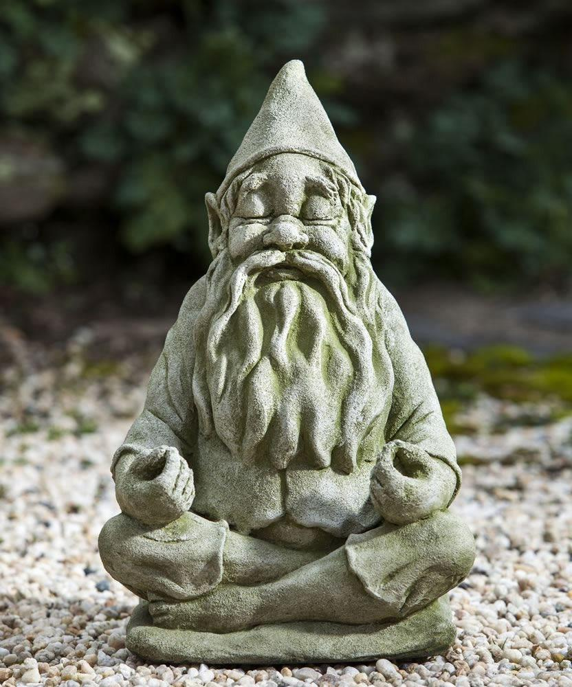 Campania International Big Fred Totally Zen Gnome Statue Life on Plum