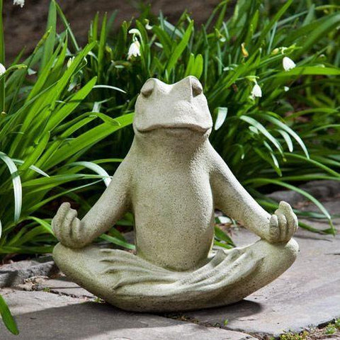Campania International Totally Zen Too Frog Statue Life on Plum