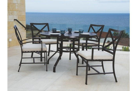 Sunset West La Jolla 48-inch Round Outdoor Dining Table
