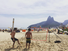 Brazil Soccer Futchi Game at the Beach