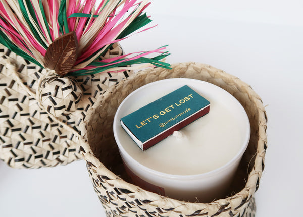 Manila Moon Candle in Palm Leaf Box
