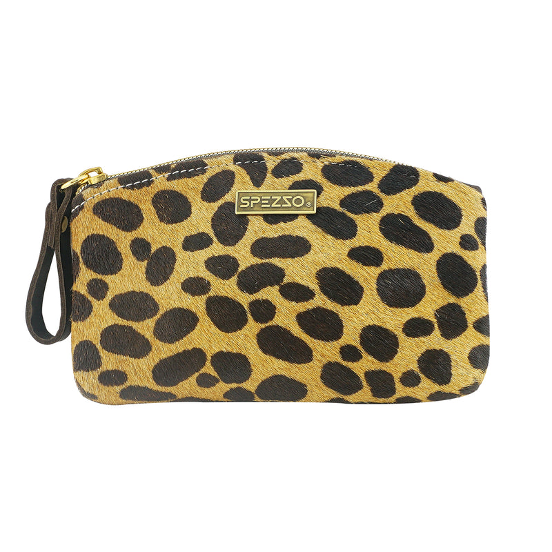 Leather Leopard Pattern Pouch