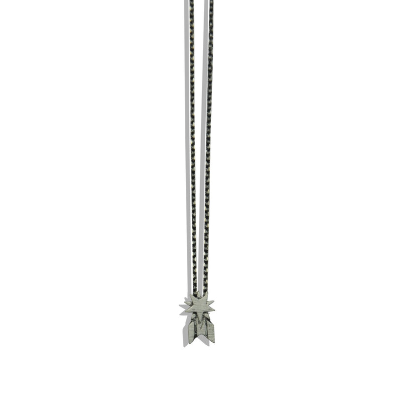 Gun Metal Necklace with Star