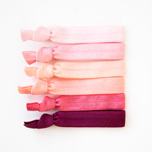 CORAL OMBRE l Hair Tie Gift Set