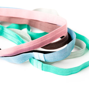 Elastic Color Headbands for Kids and Adults