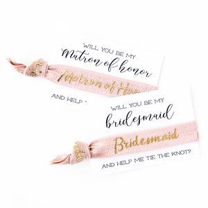 BLUSH PINK + GOLD || Bridal Party Ties