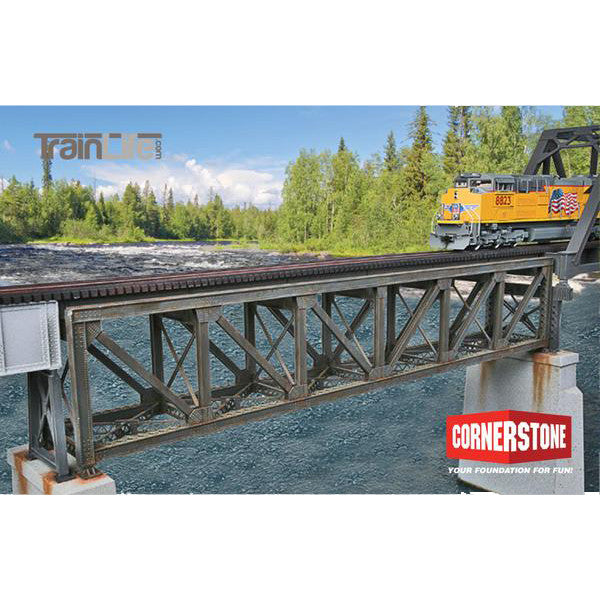 HO Scale: 109' Single - Track Pratt Deck Truss Railroad Bridge - Kit