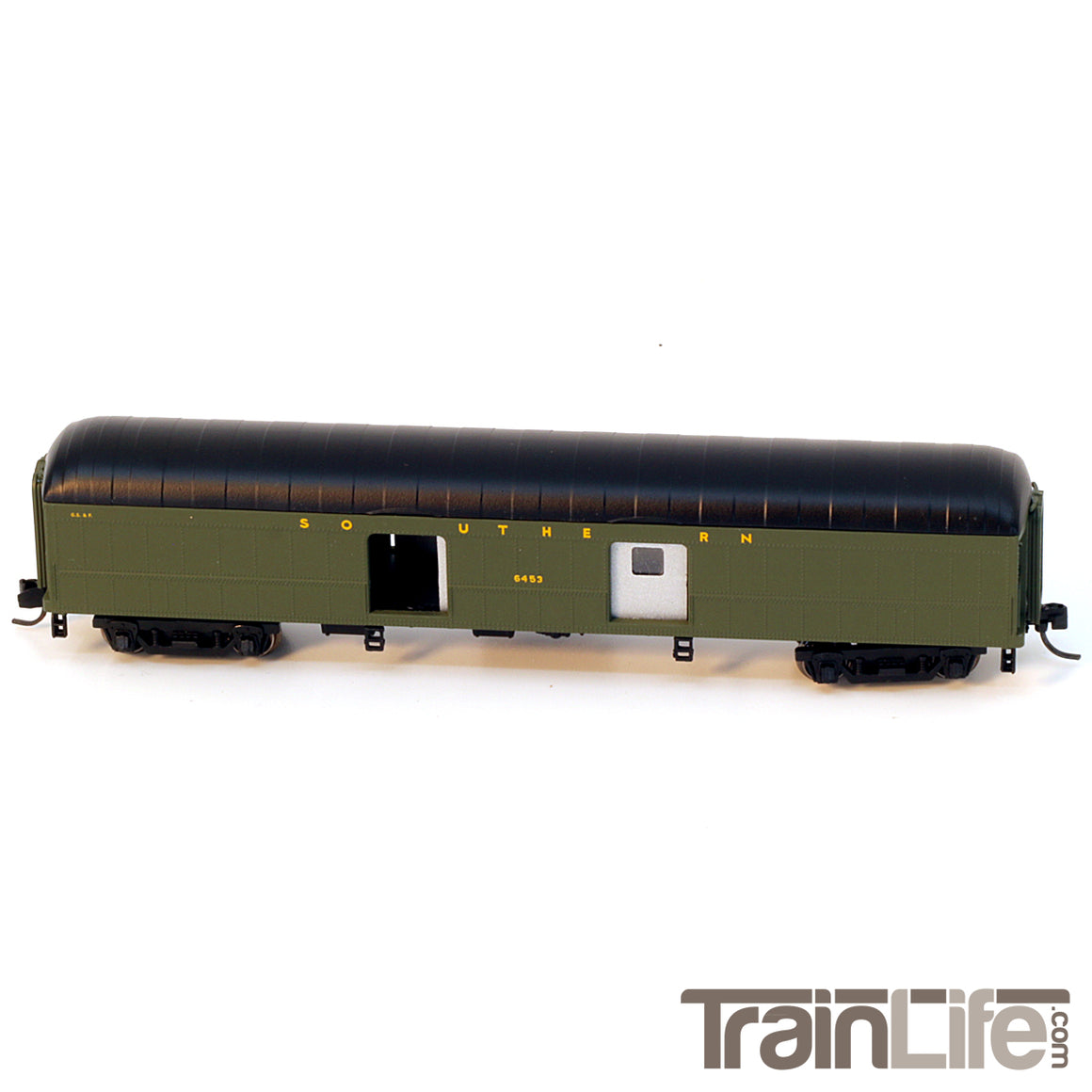 N Scale: 60-ft Arched Roof Baggage Express car - Southern