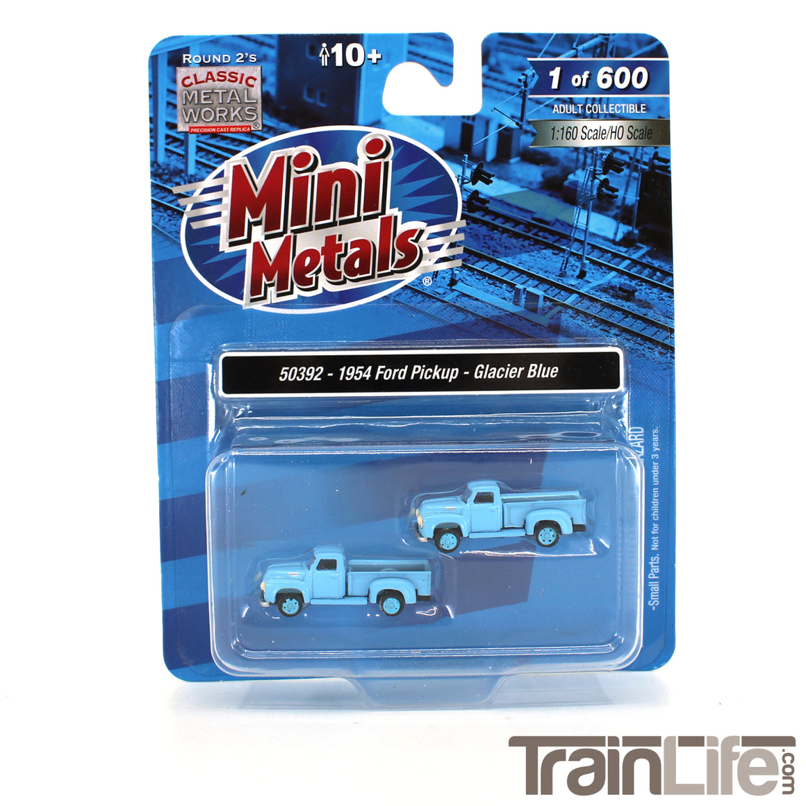 N Scale: 1954 Ford Pickup Truck - Glacier Blue - 2 Pack