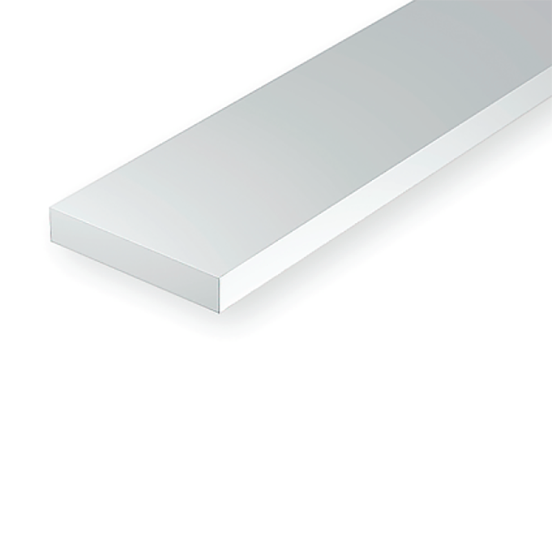 "Polystyrene: Dimensional 14"" Strip - .020 Thickness - 10 Packs"