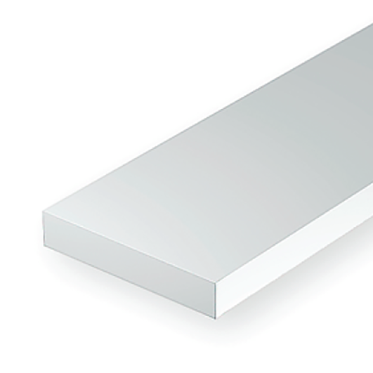 "Polystyrene: Dimensional 14"" Strip - .060 Thickness - 10 Packs"