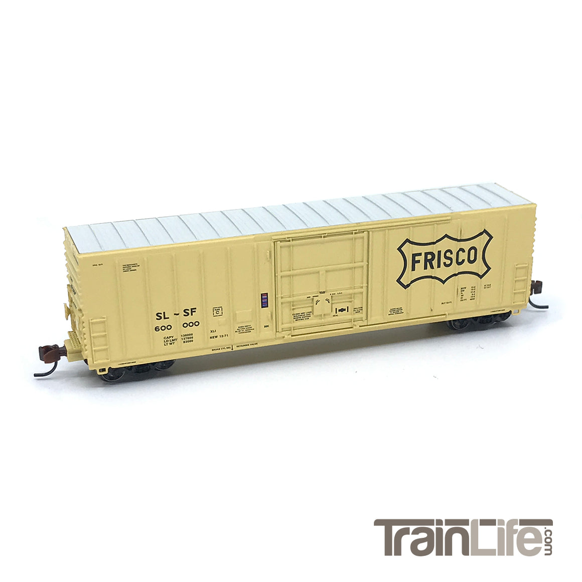 N Scale: PC&F 50-ft Exterior Post Insulated Boxcar - Frisco