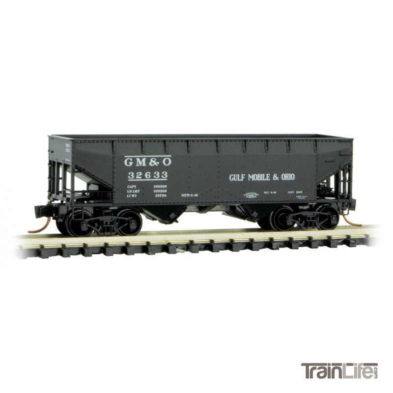 N Scale: 33' Twin Bay Hopper - Gulf, Mobil & Ohio