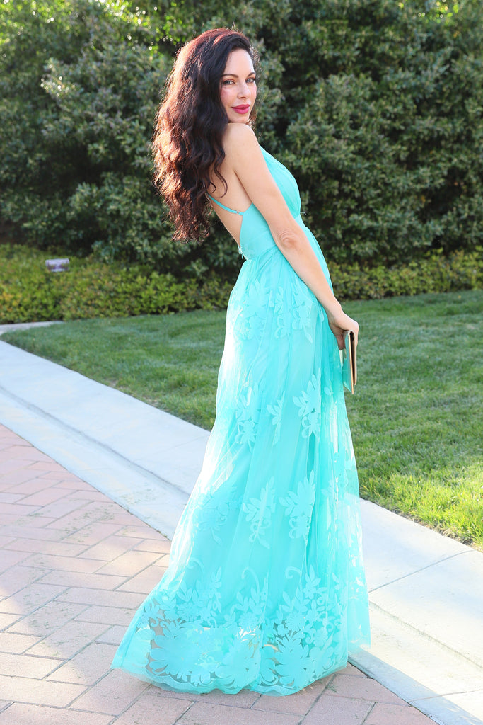 MYTHICAL KIND OF LOVE TURQUOISE DRESS